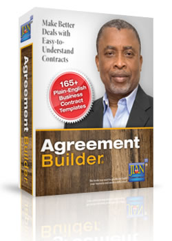 Box image Agreement Builder sample business legal contract template word