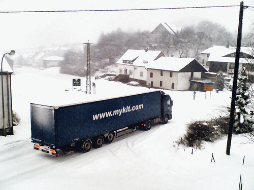 How do courier companies deal with cold weather
