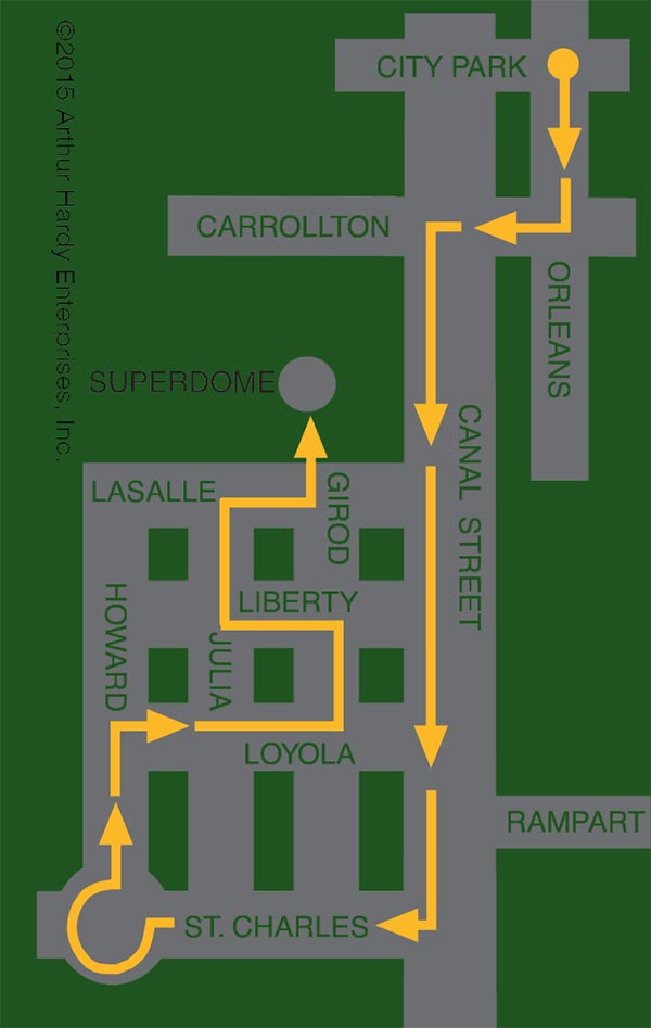 Krewe of Endymion parade Route