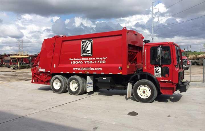 rear-loading garbage trucks