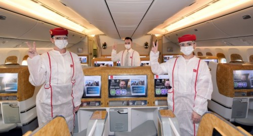 Emirates operates first flight serviced by fully vaccinated frontline teams across all customer touchpoints