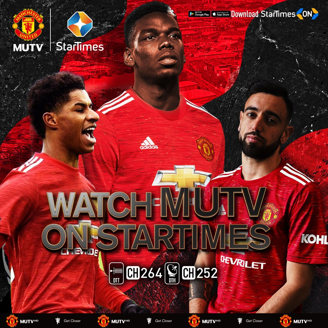 Manchester United TV is now on StarTimes