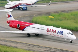 Dana aircrafts on runway