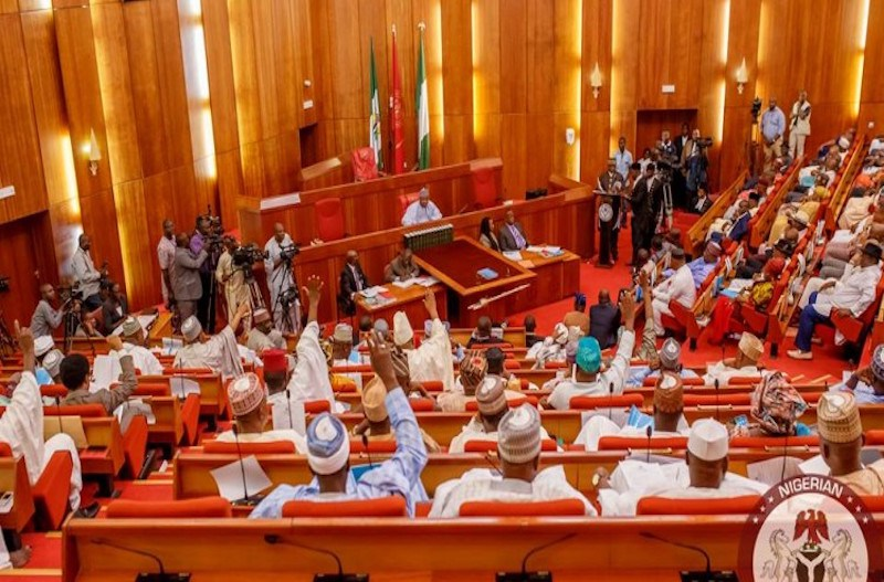 Image result for Commotion in Nigerian Senate