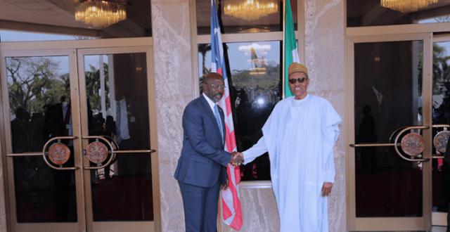 George Weah meets Buhari