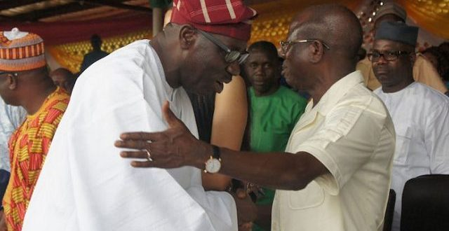 Godwin Obaseki Pays Adams Oshiomole Visit