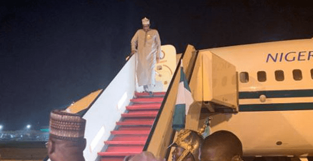 Buhari arrives Nigeria from UK
