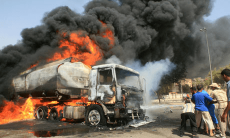 Tanker explodes