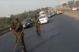 Nigerian Defence Academy Cadets Block Highway