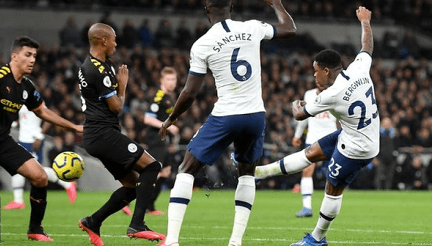 Bergwijn Scores Double against Man City to Lift Tottenham ...