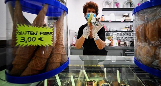 Italians Celebrate End of Coronavirus Lockdown With Ice Cream