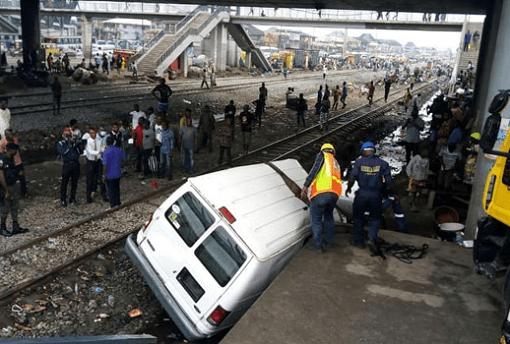Railway accident at Oshodi
