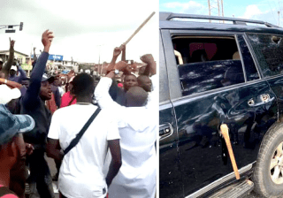 Several Injured as Hoodlums Attack #EndSARS Protesters, Governor Oyetola In Osun