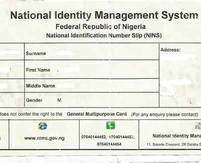 NIN: Subscribers' Group Seeks Dec 31 Deadline