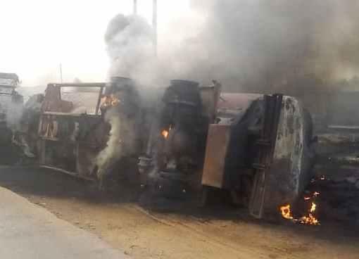 Fuel Tanker Explosion In Abeokuta Kills 3, Burns Vehicles