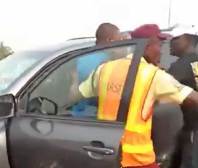 Motorist Knocks Policeman Off Bridge