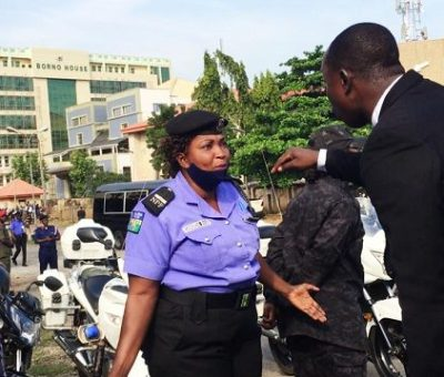 Kanu's Trial: DSS's Locking out Of Lawyers Sparks Protest In Front Of Court