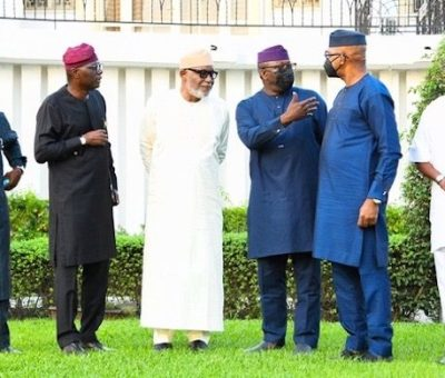 South-west Governors Hold Meeting In Lagos To Discuss Security Issues, Oodua Investment
