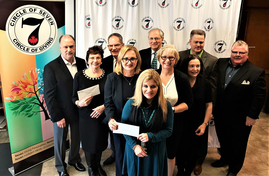 Circle of Seven Presents Five Windsor-Essex Organizations with $50,000