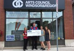 WINDSOR COMMUNITY GALLERY GETS DONATION FFROM LOWE'S HEROES