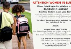 GroYourBiz and Backpack Giving Challenge