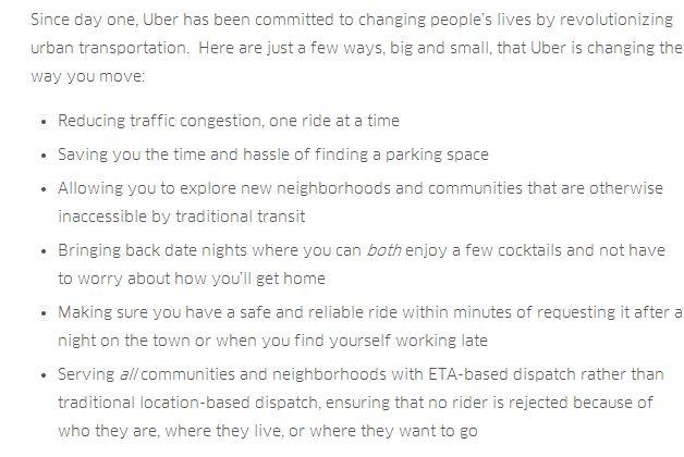 Uber blog post
