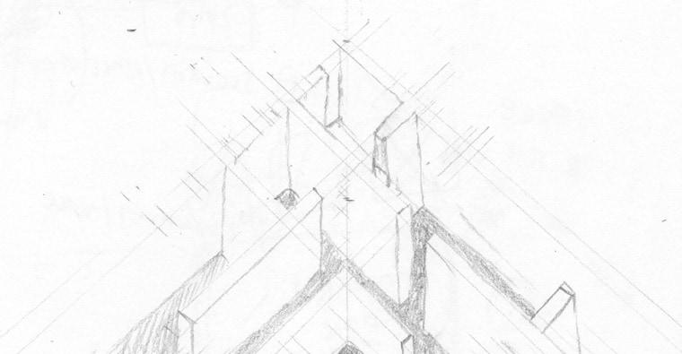 Pencil sketch of maze