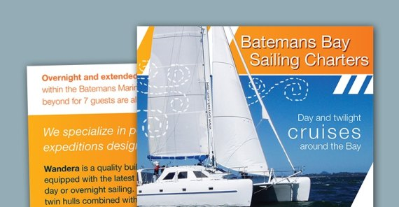 brochure design sailing batemans bay