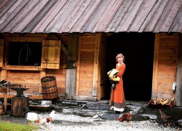 femme-viking-au-centre-de-la-famille