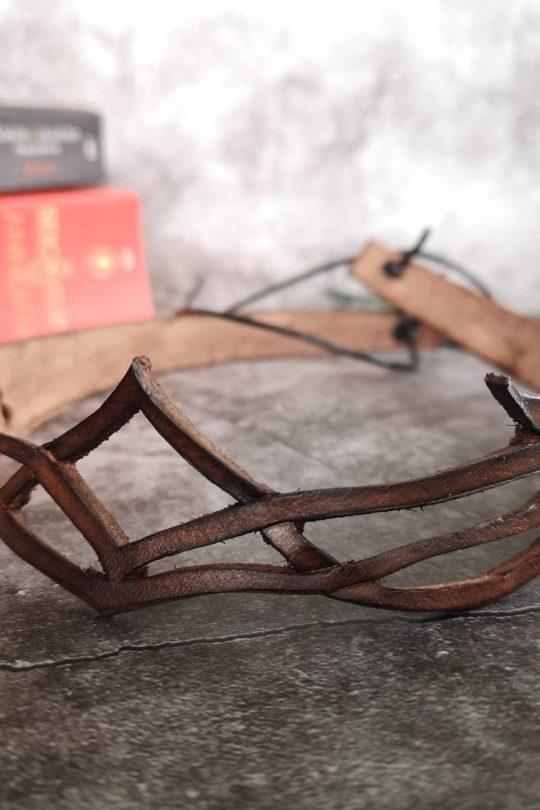 diadème en cuir elfique