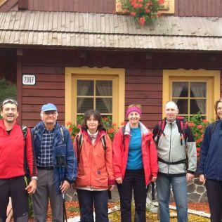 ráno pred chatou Vanesa, kde sme boli ubytovani 2 dni.