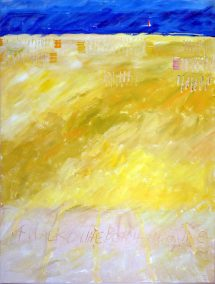 A-Walk-on-the-beach-in-June-1985-Acrylic-60x100