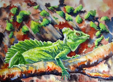 Cameleon-watercolour-26x36