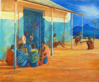 Lodundukwe-Conversation-Acrylic-50x60cm-Private-Collection
