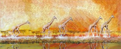 Serengeti-Bushfires-Acrilic-Collage-60x150