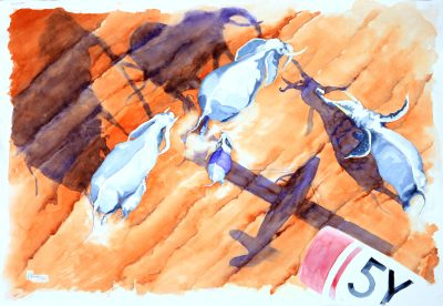 Tsavo-East...5-and-counting-Watercolour-on-Fabriano-paper-70x100cm