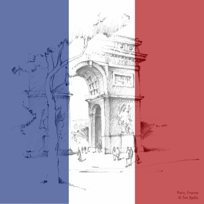 Tim Bjella Sketches - Paris
