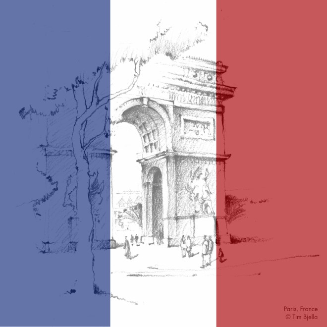 Tim Bjella Sketches - Paris