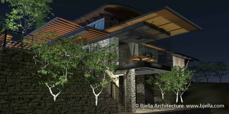 Los Angeles Hilltop Modern Glass House Bjella Architects-19