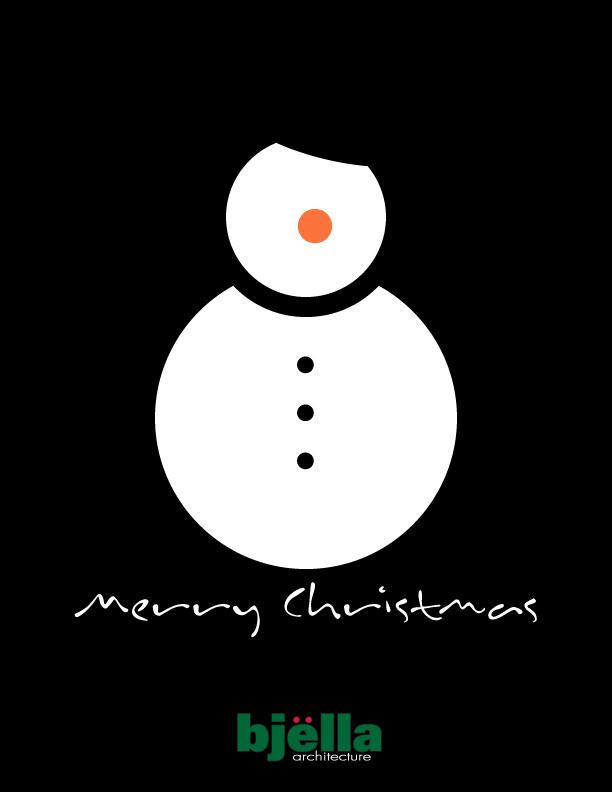 Snowman Greeting Card 2015 - Option 2