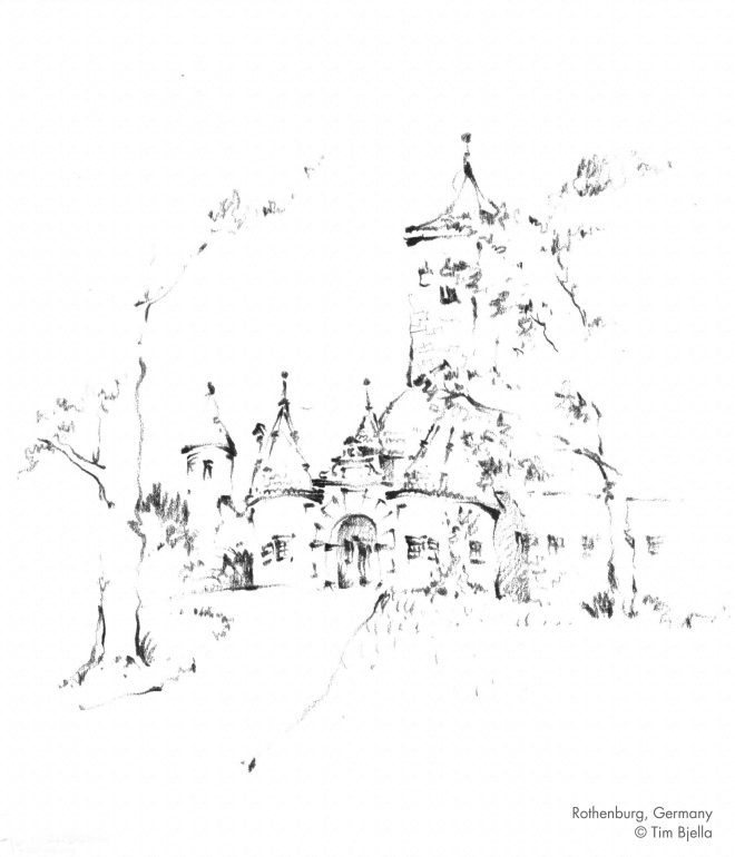 Tim Bjella Sketches - Rothenburg