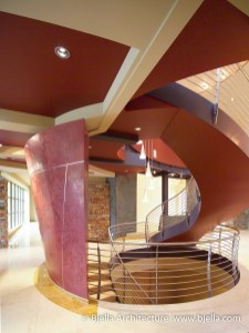 Modern Sculptural Winding Stair