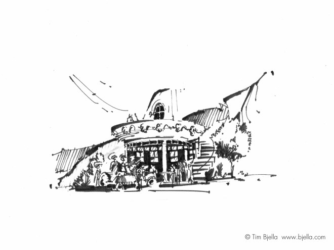 Tim Bjella Sketches - Roadside Stand