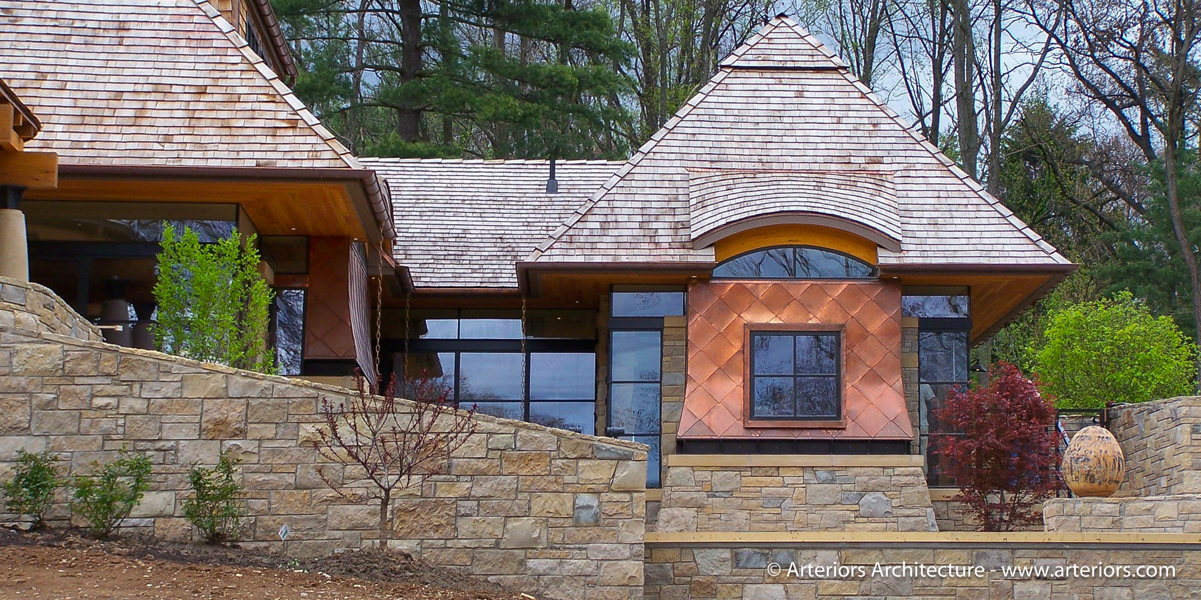 Modern Copper Wall Cladding by Arteriors Residential Architects - Newly Installed