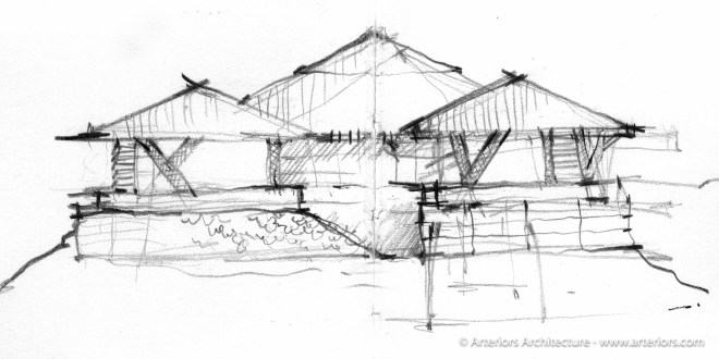 Modern Hawaii House by Arteriors Architects Concept Sketch