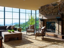 Modern Sonoma California Glass House on Vineyard - Living Room 2