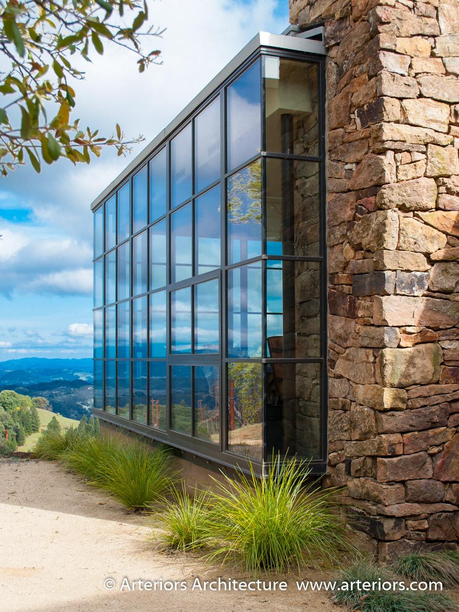 Modern Sonoma California Glass House on Vineyard-6