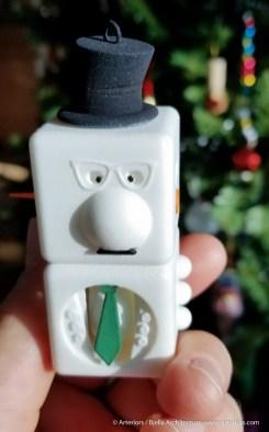 Snowman Ornament 2 - 3d printed - by Tim Bjella-4