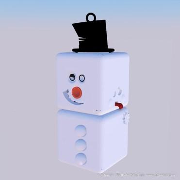 Snowman Ornament Concept by Tim Bjella-4