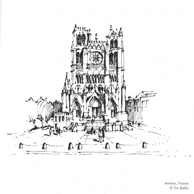 Tim Bjella Sketches - Amiens Cathedral